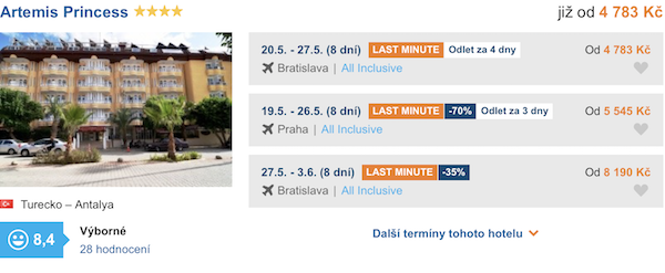 levné zájezdy Turecko Antalyia
