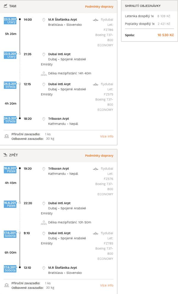levné letenky Nepál