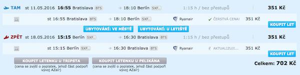 levné letenky Berlín