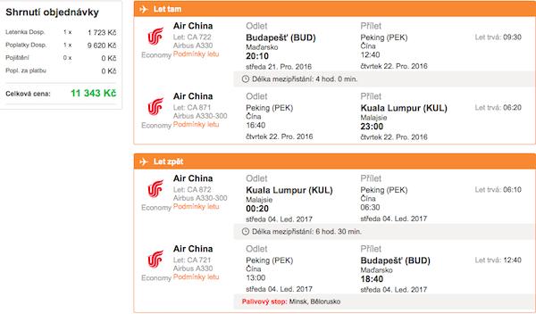 levné letenky Kuala Lumpur