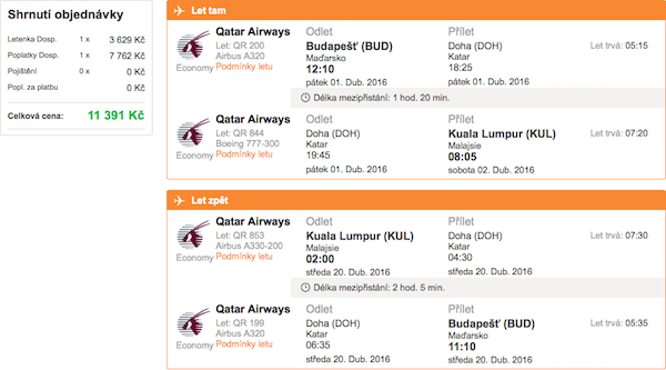 levné letenky Kuala Lumpurt