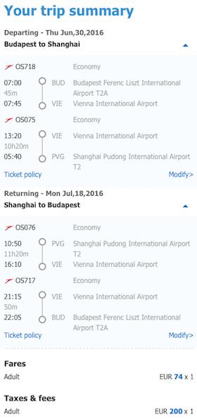 letenky Šanghaj