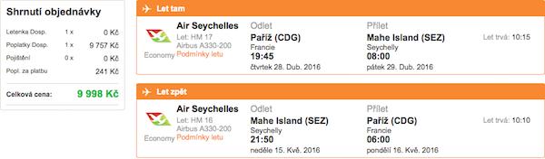 levné letenky Seychely