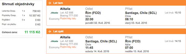 levné letenky Chile