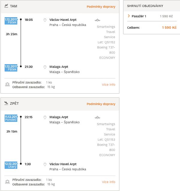 levné letenky Malaga Španělsko