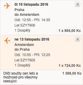 levné letenky Amsterodam