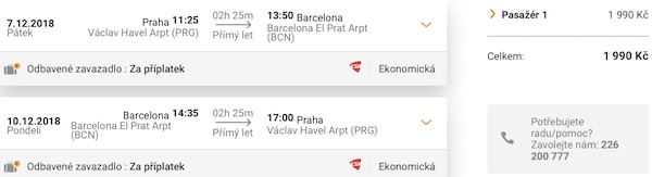 levné letenky Barcelona