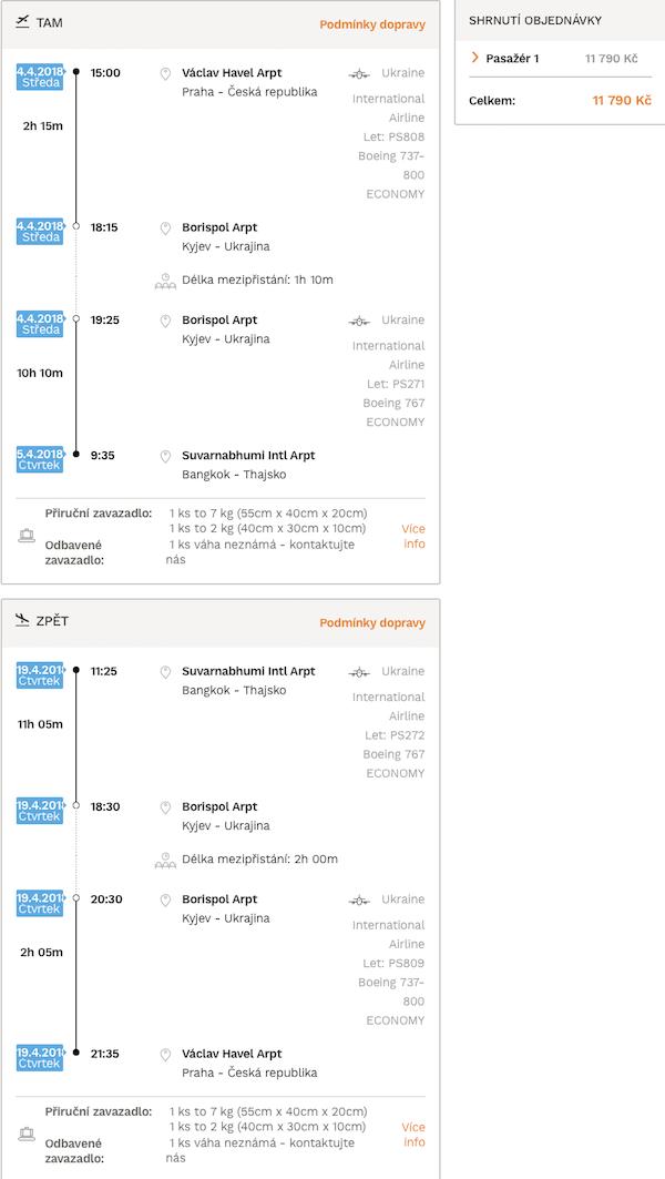levné letenky Thajsko Bangkok
