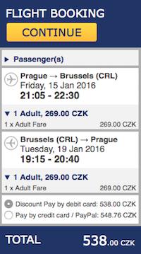levné letenky do Bruselu