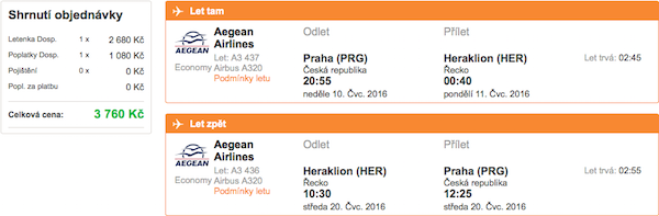 levné letenky Heraklion, Kréta, Řecko