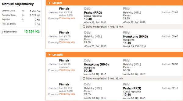 levné letenky Hong Kong