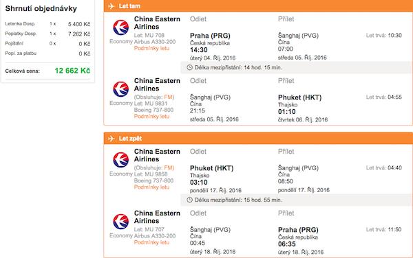 levné letenky Phuket Thajsko