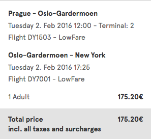 letenky Praha-New York