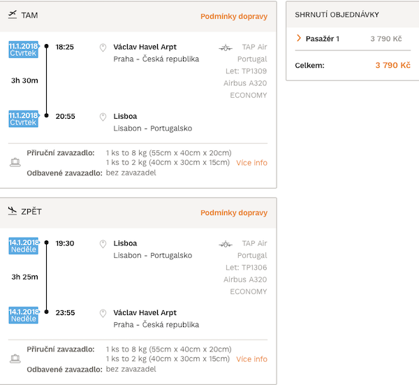 levné letenky Lisabon Portugalsko