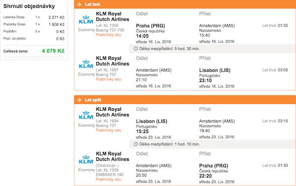 levné letenky Lisabon