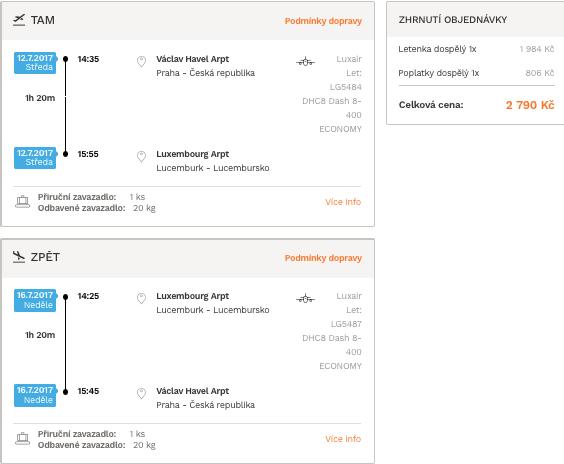 levné letenky Lucembursko