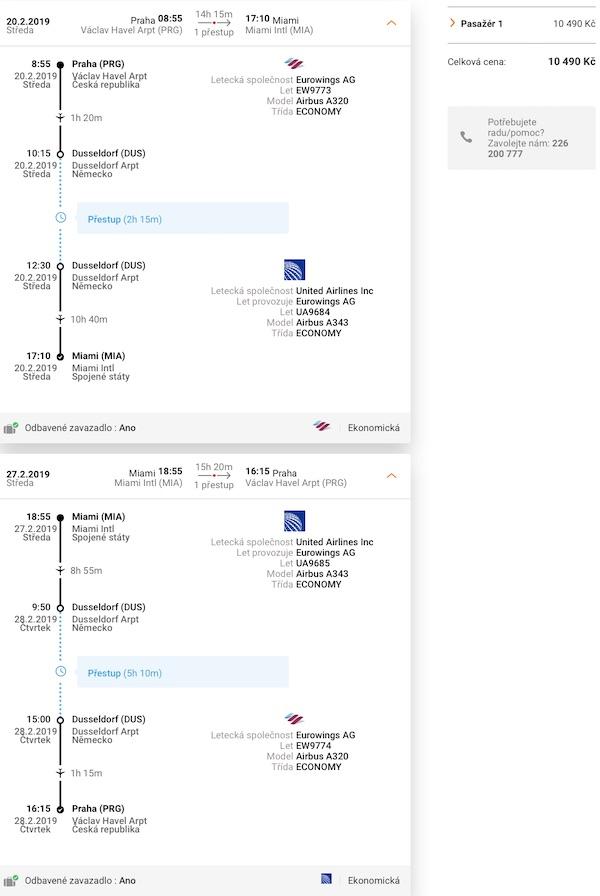 levné letenky Miami USA