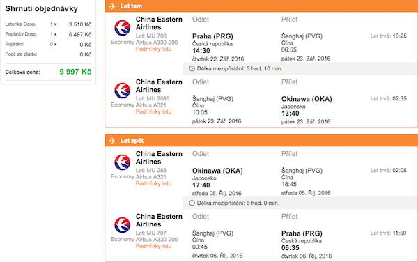 levné letenky Okinawa Japonsko