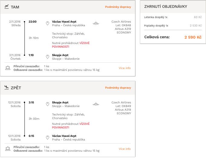 levné letenky Skopje Makedonie