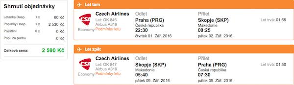 levné letenky Skopje