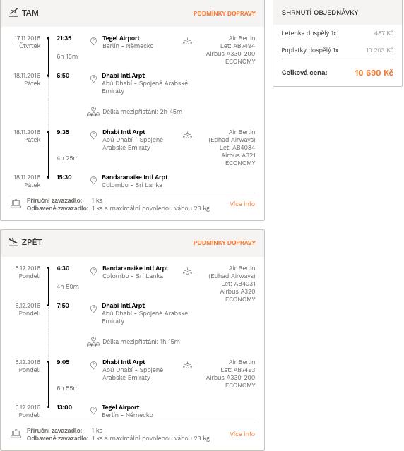 levné letenky Srí Lanka