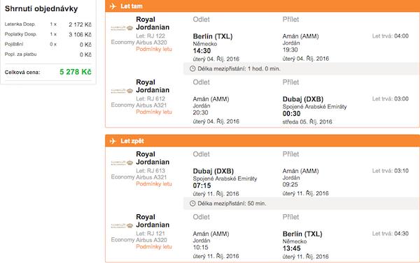 levné letenky Dubaj