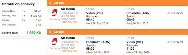 levné letenky Stockholm