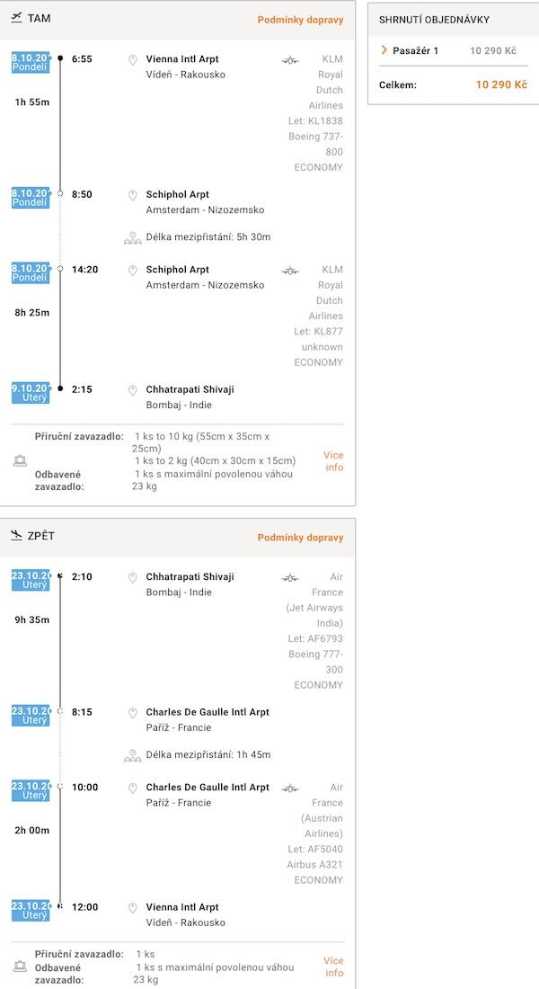 levné letenky Bombaj Indie