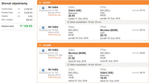 levné letenky Bombaj