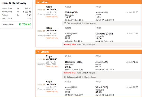 levné letenky Jakarta