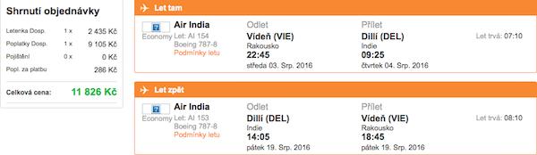 levné letenky Dilí