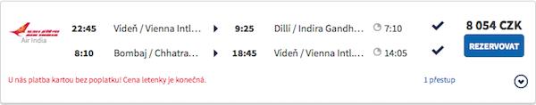 levné letenky Dilí, Bombaj, Indie