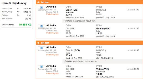 levné letenky Goa