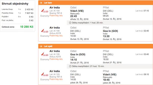 levné letenky Goa Indie