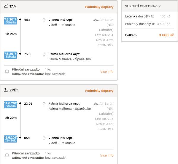 levné letenky Španělsko Mallorca